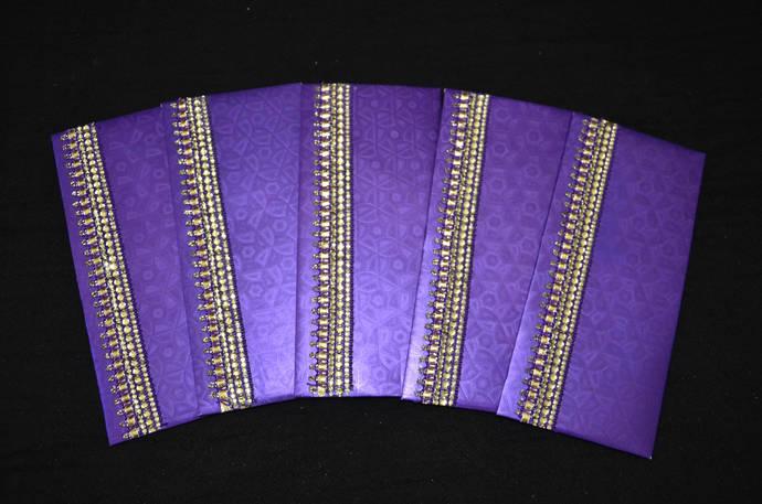 SET OF 5, Money Holder Set,Handmade,Shagan Envelope,Indian Wedding,Money