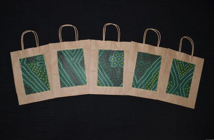 5 Medium Gift Bags Indian Wedding By Handmadetraditions On Zibbet