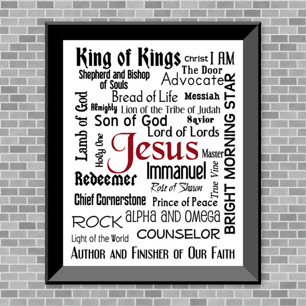 Names Of Jesus (White Background) Printable Wall Art