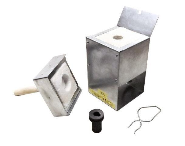 Gold & Silver Metal Melting Kiln R9-4 1120C (2048F) + 4 Oz Graphite Crucible +