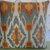 Ikat Pillow Cover in Blue Orange Gold Ivory / Southwestern Pillow / Blue Orange