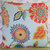 Floral Outdoor Pillow Cover in Blue Orange Yellow Green / Floral Pillow / Blue