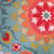 Suzani Outdoor Pillow Cover in Teal Coral Peach Yellow Red / Floral Outdoor
