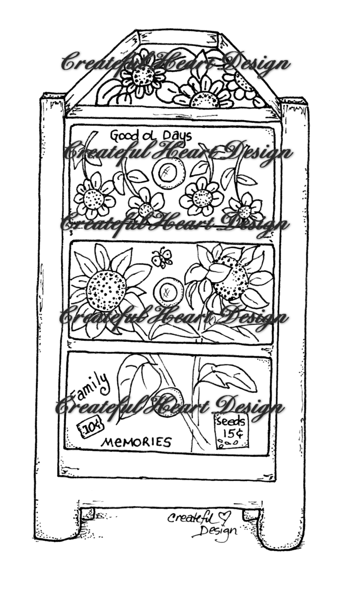 Sunflower Chest,  digital image