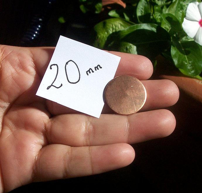 Copper 20mm Blank Disc 24g Enameling Stamping Texturing Blanks - Metalworking