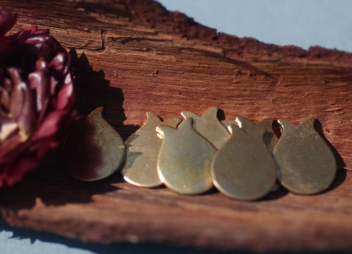 Bronze Blank Tulip Flower 16mm x 12mm 20g Metal Blanks Shape Form For