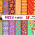 Pizza digital paper, pizza clipart, taco paper, burgers paper, pizza party,