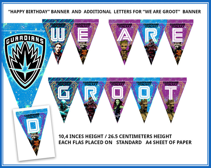 Guardians of the galaxy party, I am Groot party supplies, GOTG party favors,