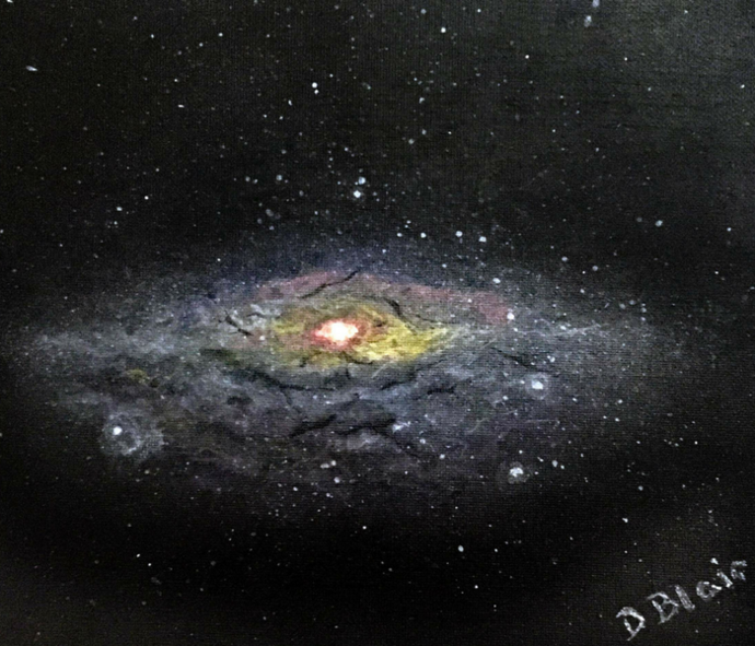 Space - acrylic spacescape painting by Dawn Blair - stars, nebula