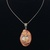 Marble pendant with russet vines