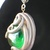 Marble pendant with silvery vines