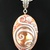 Marble pendant with seashells and vines