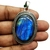 925 Sterling Silver Semi Precious Labradorite Black Rainbow Pendant Jewelry