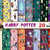 Harry Potter digital paper, Harry Potter Scrapbook, Slytherin, Gryffindor,