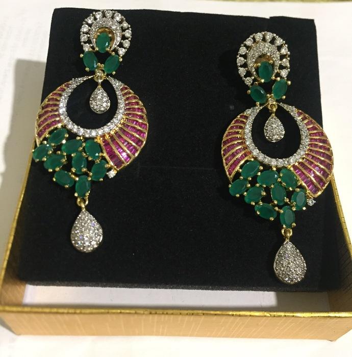 Green Tinge Earrings