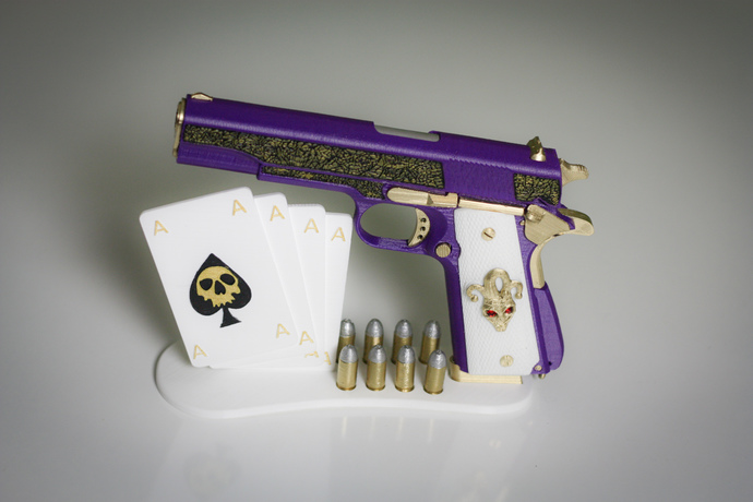 Joker Gun | Suicide Squad Cosplay | Joker Costume | Inspired Weapon | Gun  Prop | Movie Accurate | Prop Gun Joker | 3d Printed Gun