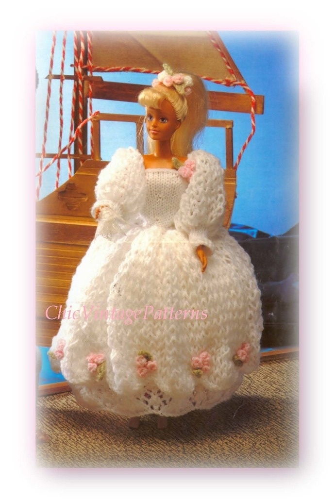 Knitted Dolls Clothes Pattern By Chicvintagepatterns On
