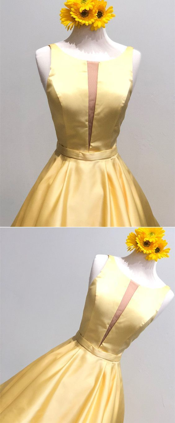 yellow homecoming dresses,cute prom dress,short prom dresses,short cocktail
