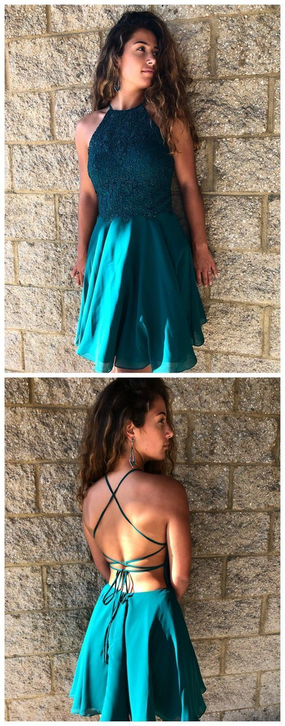 Beautiful Halter Neckline A-line Backless Homecoming Dress,Sexy Cocktail