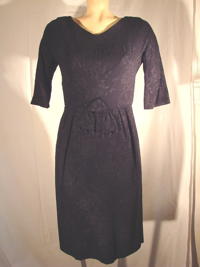 Vintage Nelson Caine Black Brocade Dress Fabulous Holiday Dress