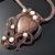 Dark Shield - wire woven and knit copper pendant with jasper