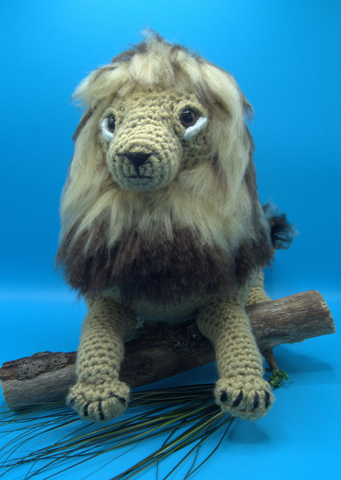 African Lion Amigurumi/Lion crochet Animal/Stuffed lion toy/Big Cats toy animal