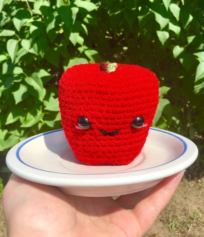 Amigurumi Apple Crochet Pattern - PATTERN ONLY - Instant Download