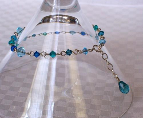 Swarovski Crystal and Sterling Silver Bracelet - Ocean Blue