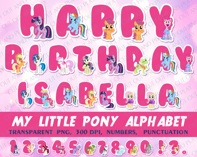 image about Printable Abc identified as My Very little Pony Alphabet, printable alphabet, birthday banner, Pony birthday, pony get together, printable ABC, pony clipart, birthday decorations