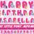 My Little Pony Alphabet, printable alphabet, birthday banner, Pony birthday,