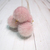 "2pcs Fuzzy Fur Dangle Charms - 5/8"" Grey, Pink, Blush Pink, Cream"