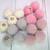 """2pcs Fuzzy Fur Dangle Charms - 5/8"""" Grey, Pink, Blush Pink, Cream"""