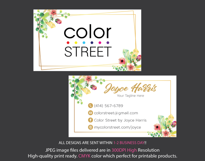 Personalized Color Street Business Cards, Color by ...