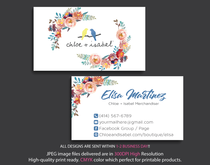 Chloe isabel business cards personalized by digitalart on zibbet chloe isabel business cards personalized chloe isabel business cards colourmoves