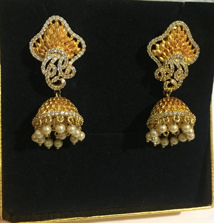 The Antique. Cubic Zirconia Earrings