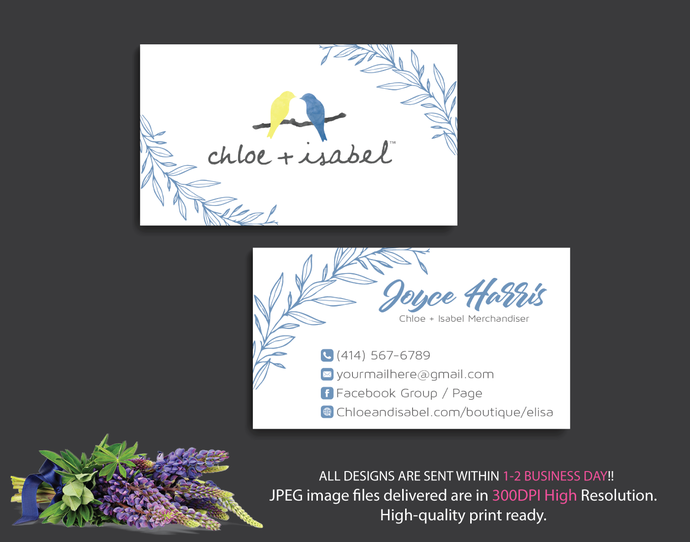Personalized chloe isabel business cards by digitalart on zibbet personalized chloe isabel business cards chloe isabel business cards chloe colourmoves