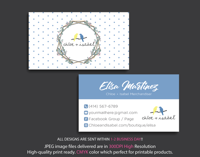 Chloe isabel business cards personalized by digitalart on zibbet chloe isabel business cards personalized chloe isabel business cards chloe colourmoves