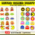 Retro Arcade Game party cupcake toppers and wrappers, video games, Gamer party,