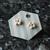 Small Handmade White Flower Stud Earrings