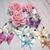 Elegant Glaze Butterflies Bling Embellishment - Pink, Blue, Lavender, Cream stl