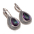 Sterling Silver Mystric quartz Faceted Gemstone Dangler Earring Jewelry.