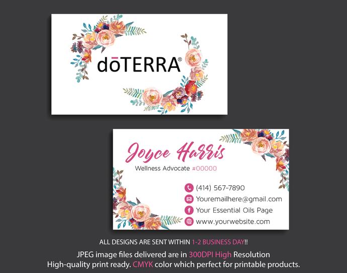 Personalized Doterra Business Card Doterra By Digitalart On Zibbet