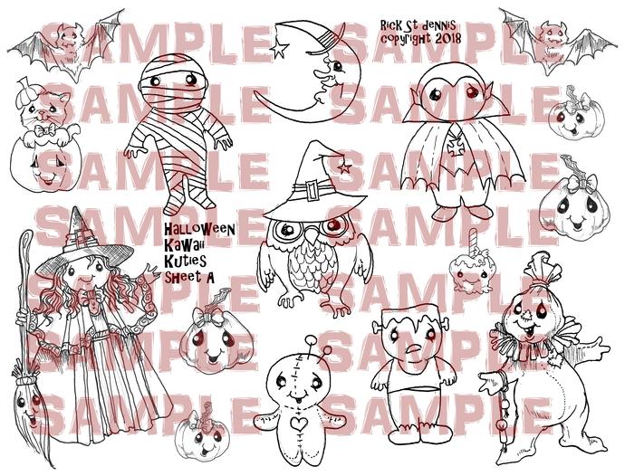 Halloween kAWAII kUTIES SHEET A