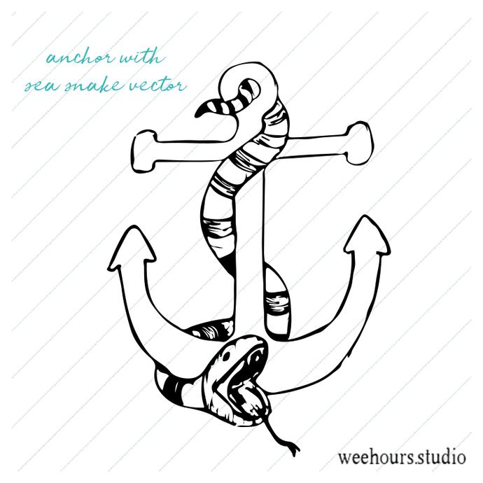 Anchor Vector For Digital Scrapbooking By Wee Hours Studio On Zibbet