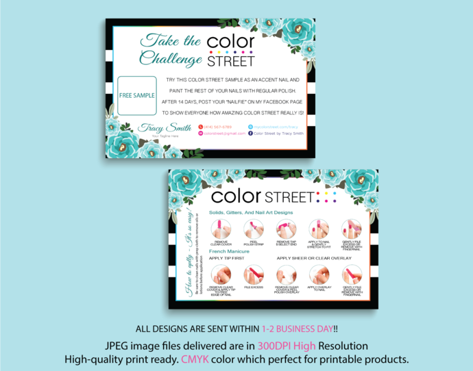 Color Street Challenge, Color Street Free Sample, Personalied Color Street