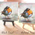 "European Robin Painting 5x5""  Bird Art, Small Paintings, Bird Watcher, Free"
