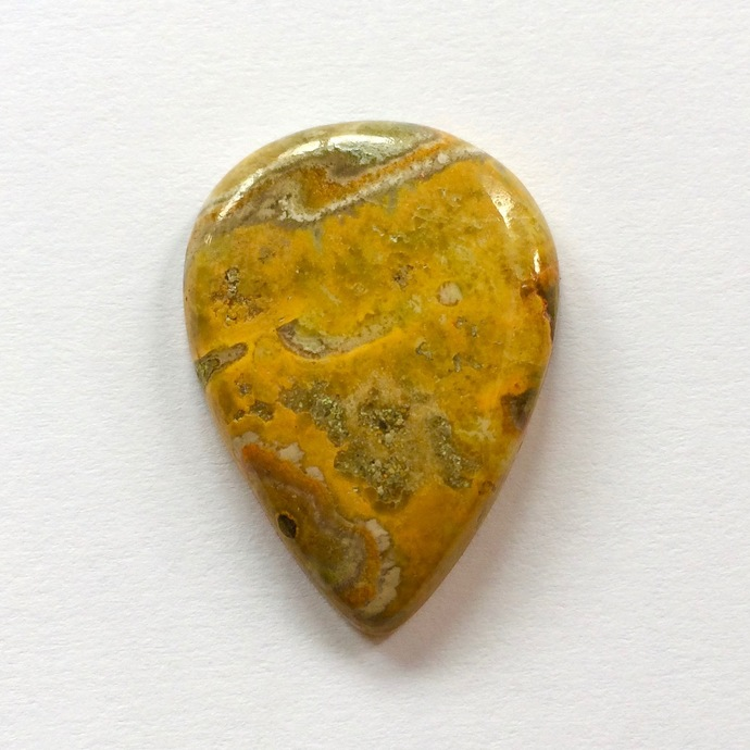 Bumble Bee Jasper Gemstone Cabochon Pear 30x22mm FOR ONE