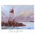 Seascape Painting, Coast Guard Tower in Milford, CT, 9x12 inches Gallery Wrap,