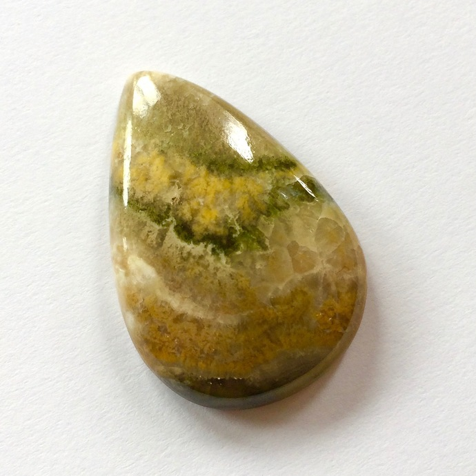 Bumble Bee Jasper Gemstone Cabochon Pear 32x21mm FOR ONE