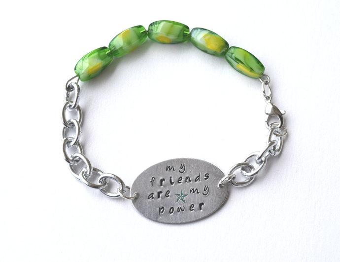 Kingdom Hearts Ventus Quote Handmade Silver Bracelet